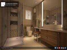 Lonesome Interiors' Designs l Main Bathroom Design