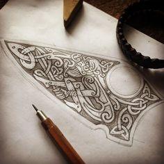 Warrior and Snakes - sketch for engraving on a knife blade ⚔️ (fast sketch) Воин и змей - эскиз для гравировки на лезвие ножа #celtic #celticart #knife #celticknot #ornaments #кельты #arzarz #emblem #irish #celticartlogo #artwork #Arzamastsev #siberia #doodle #celticdesign #knotwork #pencil #dragon #viking #line #art #illustration #linework #sketch #drawing #norse #workprocess #pencilsketch #vikingart #warrior
