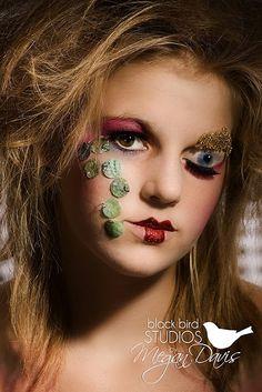 Fashion head shot. -Creepy eye was done with makeup