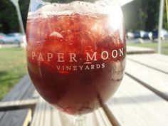 Sangria at Paper Moon Winery in Vermilion,  Ohio