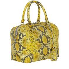 Alice + Olivia Olivia Sundown Snake Printed Leather Bag ($545) ❤ liked on Polyvore