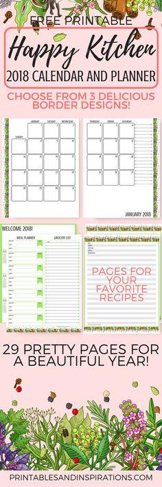 Blank Kitchen Calendar : Colorful calendar free printable plus blank calendars