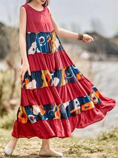 Sexy Plus Size Dresses, Oversized Summer Dresses Online Wholesale - NewChic Page 7 Summer Dresses Online, Patchwork Dress, Plus Size Maxi Dresses, Tie Dye Skirt, Fashion Dresses, Couture, Womens Fashion, Clothes, Style