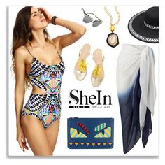 Tribal Swimwear by crochetnecklaces on Polyvore featuring Phase Eight, Fendi, Nest, Kendall + Kylie, Summer, boho, trending, tribal and swimsuit