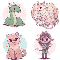 So have all the Ilvermorny house creatures! So have all the Ilvermorny house creatures! and which is your favourite creature? Harry Potter Kunst, Arte Do Harry Potter, Harry Potter Drawings, Cute Kawaii Drawings, Cute Animal Drawings, Chibi Disney, Desenhos Harry Potter, Anime Animals, Draw Animals