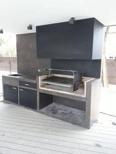 Outdoor Kitchen Bars, Outdoor Kitchen Design, Yard Design, House Design, Built In Braai, Outdoor Barbeque, Patio Grill, Rooftop Design, Budget Patio