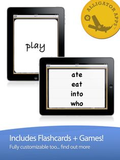SIGHT WORDS...Articulation and listening practice for dozens of sight words from preschool through third grade, customizable size, font, color and you can even record your own voice! Be sure to go to Play Mode --> Games for listening practice. ($0.00)