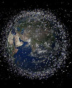 ♥ The European Space Agency (ESA) in Paris has released computer generated images of junk floating in space around Earth - more than 12,000 pieces of derelict junk :-( - http://www.natural-environment.com/blog/2008/04/16/images-of-earth-surrounded-in-space-junk/