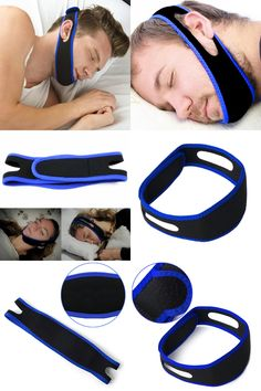[Visit to Buy] Snore Belt Stop Snoring Sleep Apnea Chin Jaw Support Strap for Woman Man Care Sleeping Tools Health Professional #Advertisement