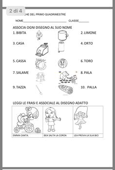 Kids Math Worksheets, Learning Italian, Math For Kids, Speech Therapy, Activities For Kids, Teaching, School, Geography, Alphabet
