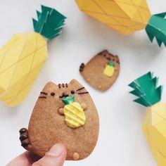 "58.8k Likes, 414 Comments - Pusheen (@pusheen) on Instagram: ""Feeling summery~☀For more adorable cookies, follow @elleventy! #regram"""