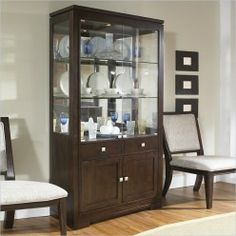 Great looking display cases that enhance a modern room scheme.