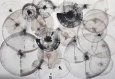 "Saatchi Art Artist Michael Lentz; Drawing, ""Sgraffito 489 100x70cm The Hour"" #art"