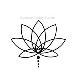Lotus design - I create this beautiful lotus flower. I make a mini lotus rubber stamp, yoga tank top and t-shirt. Mini Tattoos, Trendy Tattoos, Unique Tattoos, Small Tattoos, Cool Tattoos, Small Lotus Tattoo, Form Tattoo, Lotusblume Tattoo, Unalome Tattoo