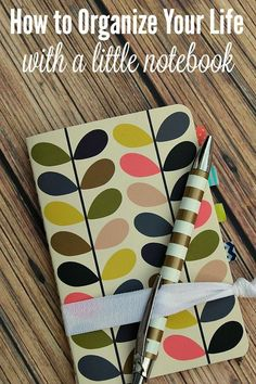 Use this simple system and a little notebook to organize your day and increase your productivity.