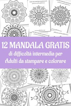 12 FREE Intermediate Mandala Coloring Pages For Adults Alleviate The Stress And Anxiety With Colour Therapy