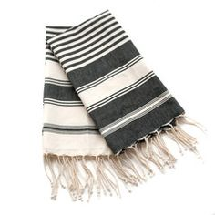 Kira Striped Towels - $28