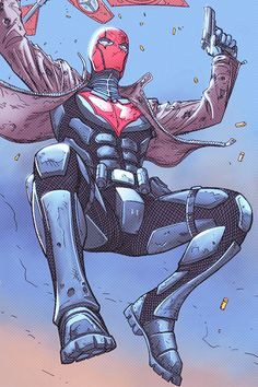 """dickraisin: """" Jason jumping off a plane and giving readers a very nice view~ ↳ Red Hood and the Outlaws: Futures End #1 """""""