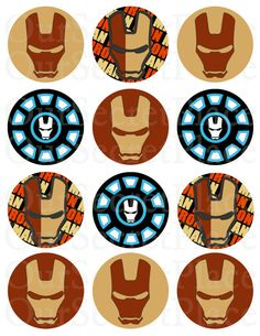 """INSTANT DOWNLOAD 2-1/2"""" PRINTABLE Iron Man Stickers / Labels Party Circles / Favor Tags by OurSecretPlace on Etsy, $4.99"""