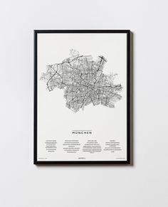 München City, Munich, Illustration, Bmw, Frame, Design, Bavaria Germany, Glass Panels, Location Map