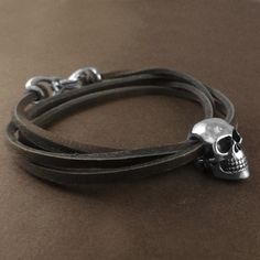Skull Bracelet  Antique Silver Human Skull Bracelet by LostApostle, $40.00
