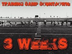 Just 3weeks until the start of Training Camp. Get your...