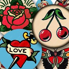 sailor jerry cherry tattoo - Google Search