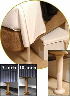 extra tall bed risers adjustable height tall bed dorm and bed risers. Black Bedroom Furniture Sets. Home Design Ideas