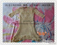 Katia Ribeiro Acessórios: Vestido / Túnica em crochê com passo a passo e gráfico
