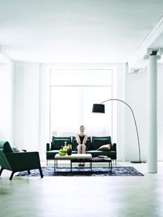 Living Room Inspiration Galleries- love the modern lamp