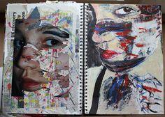 Sketchbook Sketchbook ideas - Development of Jonathan Darby work - GCSE Urban Art Photography Sketchbook, Art Photography, Coffee Photography, Art Journal Pages, Art Journals, Journal Ideas, Girl And Cat, Sketchbook Inspiration, Sketchbook Ideas