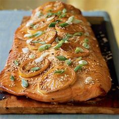 This recipe describes how to grill on a plank really well.  Also, the salmon sounds delish.