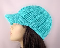 ribbing hat in crochet | Crochet Chunky Ribbed Baseball Cap by TTB | Crocheting Ideas