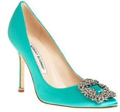 turquoise manolo blahniks. something blue