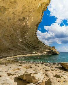 Spectacular cliff erosion Malta