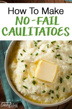 """Need an easy low-carb, keto, paleo, Whole30 or THM:S substitution for mashed potatoes? Learn how to make the best No-Fail Caulitatoes (aka Cauliflower """"Mashed Potatoes"""") with our without the Instant Pot-- they're the best stand-in for real mashed potatoes! #caulitatoes #keto Cauliflower Mashed Potatoes, Cauliflower Recipes, Great Recipes, Dinner Recipes, Holiday Recipes, Keto Holiday, Favorite Recipes, Best Keto Diet, Low Carb Lunch"""