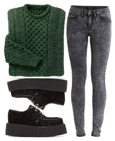 """""""Say Please."""" by evelynmassacre ❤ liked on Polyvore featuring VILA, Underground, Fall and college"""