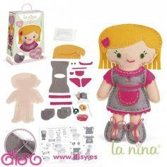Muñecas de Fieltro La Nina ya disponibles en Disy por tan sólo €11.95