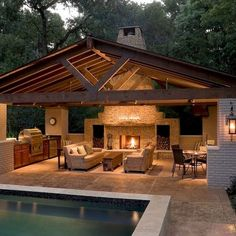↗️ 63 The Most Popular Outdoor Living Room Decoration Models Tips To Furnishing Your Outdoor . ↗️ 63 The Most Popular Outdoor Living Room Decoration Models Tips To Furnishing Your Outdoor Living Space 27 Backyard Pavilion, Backyard Patio Designs, Patio Ideas, Backyard Ideas, Outdoor Pavillion, Pergola Designs, Pergola Patio, Pergola Plans, Small Backyard Decks