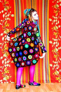 Abstract Pop Art Crochet Cardigan by babukatorium on Etsy, $170.00    WOW!