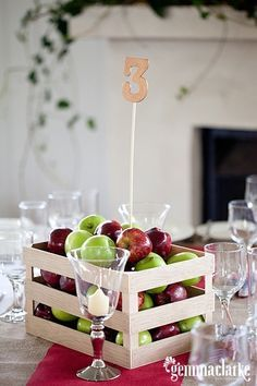 Apple Centerpiece / 37 Things To DIY Instead Of Buy For Your Wedding (via BuzzFeed)