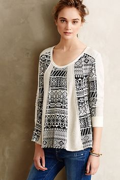 Geo-Jacquard Swing Pullover - anthropologie.com