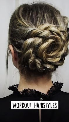 Quick Curly Hairstyles, Braided Hairstyles Updo, Elegant Hairstyles, Bride Hairstyles, Summer Hairstyles, Cute Hairstyles For Medium Hair, Workout Hairstyles, Athletic Hairstyles, Natural Hair Updo