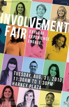 The Graphics Center: Student Leadership and Engagement (SLE) Involvement Fair Poster