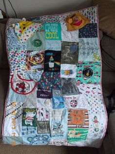 Memory Blankets made using your favourite clothes by SewYouBaby on Etsy (null)