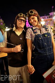Carl and Ellie from UP. I can't even HANDLE the cuteness! I wish I had someone to do this with!