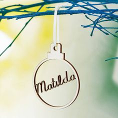 Personalised Christmas Tree Decorations and Baubles Personalised Christmas Tree Decorations, Personalised Bauble, Personalized Gifts, Open On Christmas, Christmas Stuff, Christmas Eve, Christmas Gifts, Xmas, Wooden Names