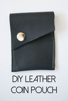 Leather Coin Pouch - Nearly Crafty