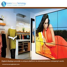 #Digitaldisplays provide a #unique platform to #showcase your #company's #work. #TucanaGlobalTechnology #Manufacturer #HongKong