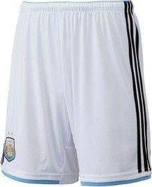 Ésos son los cortos de uniforme de Argentina para la Copa Mundial 2014.